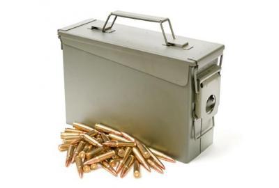 metal ammo box for storage
