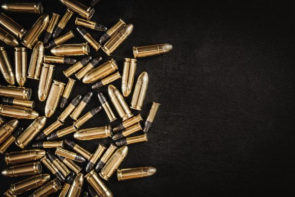 ammo against black background
