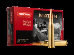 Norma 338 Lapua Magnum 20 Rounds 250 Grain Sierra Matchking HPBT Ammo