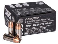 E9MMA136520 Sig Sauer Elite V-Crown  9mm 115 Gr JHP