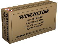 SG40W Winchester Service Grade 40 S&W 165 Gr FMJ
