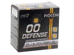 "12EX00BK Fiocchi Defense Dynamics 12 Gauge 2-3/4"" 9 Pellet 00 Buck Shot"