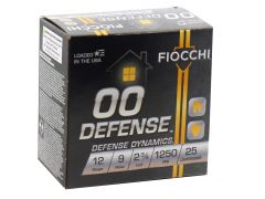"12EX00BK Fiocchi Defense Dynamics 12 Gauge 2-3/4"" 9 Pellet 00 Buck Shot"