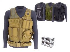 223-AD-TV-01-AE223BLX400 Federal American Eagle 223/5.56 55 Grain FMJ RTAC Tactical Vest Combo