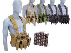 223-CHESTRIG-22355WFMJ500 Wolf Performance 223/5.56 55 Grain FMJ RTAC Chest Rig Combo