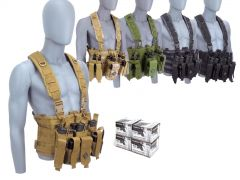 223-CHESTRIG-AE223BLX400 Federal American Eagle 223/5.56 55 Grain FMJ RTAC Chest Rig Combo