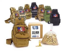 223-TACSLING-USC200FMJA US Cartridge 223 Remington 55 Grain FMJ RTAC Tactical Sling Combo
