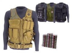 223-TV-01-22355WFMJ500 Wolf Performance 223/5.56 55 Grain FMJ RTAC Tactical Vest Combo