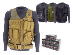 223-TV-01-FIO223A500 Fiocchi 223/5.56 55 Grain FMJ RTAC Tactical Vest Combo