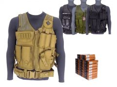 223REM-TV-01-223A500 PMC 223/5.56 55 Grain FMJ RTAC Tactical Vest Combo