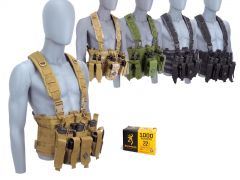 22LR-CHESTRIG-B1941220001000 Browning 22 LR 36 Grain CPHP RTAC Chest Rig Combo