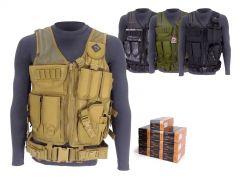 38SP-TV-01-38G500 PMC 38 Special 132 Grain FMJ RTAC Tactical Vest Combo