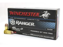 RA45SF Winchester Ranger 45 ACP 175 Gr +P Frangible SF Lead Free Buy Case