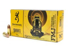 B191800092 Browning Training & Practice 9mm 115 Grain FMJ