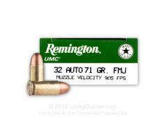 Remington UMC .32 ACP 71 Grain FMJ Case L32AP-CASE