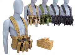 45ACP-CHESTRIG-SG45W500 Winchester 45 ACP 230 Grain FMJ RTAC Chest Rig Combo