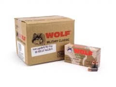 Wolf Military Classic 9mm Luger 115 Grain FMJ (Case)