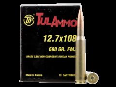 TA127101 Tulammo 12.7x108mm 680 Gr FMJ 10 Round Box