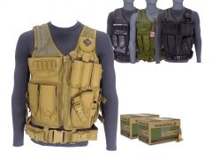 556-AD-TV-01-WM855200400 Winchester Lake City 5.56 62 Gr M855 Green Tip FMJ RTAC Tactical Vest Combo