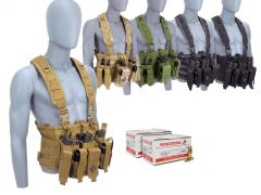 556-CHESTRIG-WM193150300 Winchester Lake City 5.56 55 Grain M193 FMJ RTAC Chest Rig Combo