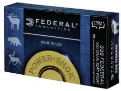 338FJ Federal Power-Shok 338 Federal 200 Grain Soft-Point Power-Shok (SPPS)