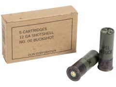 "Q1544 Winchester Military Grade  12 Ga 2.75"" 9 Pellets 00 Buck Shot"