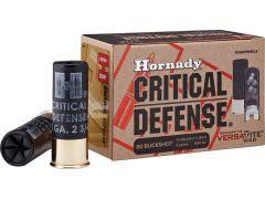 """86240 Hornady Critical Defense 12 Gauge 2.75"""" Lead 8-Pellet 00-Buck"""