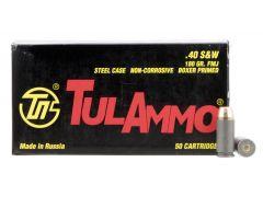 TA401800 TulAmmo 40 S&W 180 Grain FMJ