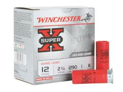 "XU128-CASE Winchester Super-X Upland Game 12 Gauge 2.75"" 1 OZ 8 Shot"