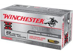 X22LR Winchester Super-X 22 LR 40 Gr LRN Copper Plated