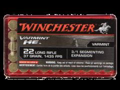 S22LRFSP-CASE Winchester Varmint HE 22 LR 37 Grain Hollow Point (Case)