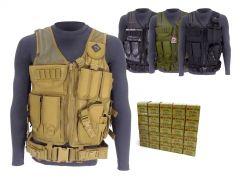 762X39-TV-01-ROA76239124FMJ500 Red Ops 7.62x39 124 Grain FMJ RTAC Tactical Vest Combo