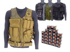 7.62X39-AD-TV-01-WFMJ500 Wolf Performance 7.62x39mm 122 Grain FMJ RTAC Tactical Vest Combo