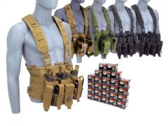 762X39-CHESTRIG-762WFMJ500 Wolf Performance 7.62x39mm 122 Grain FMJ RTAC Chest Rig Combo