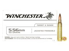 USA556JF Winchester USA 5.56 50 Grain Jacketed Frangible