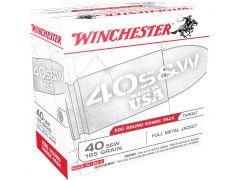 USA40W Winchester 40 S&W 165 GR FMJ