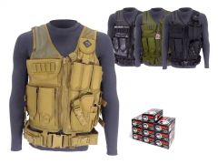 9MM-AD-TV-01-9X19WFMJ500 Wolf Polyformance 9mm 115 Grain FMJ RTAC Tactical Vest Combo