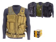 9MM-AD-TV-01-B191800096400 Browning 9mm 115 Grain FMJ RTAC Tactical Vest Combo