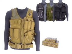 9MM-AD-TV-01-P9HST1400 Federal Premium HST 9mm 124 Grain JHP RTAC Tactical Vest Combo
