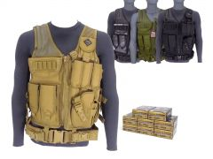 9MM-AD-TV-01-P9HST2400 Federal Premium HST 9mm 147 Grain JHP RTAC Tactical Vest Combo