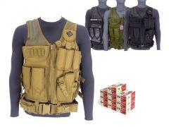 9MM-AD-TV-01-ZQI-9MM-124500 ZQI 9mm 124 Grain FMJ RTAC Tactical Vest Combo