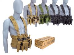 9MM-CHESTRIG-B191800092500 Browning Training & Practice 9mm 115 Grain FMJ RTAC Chest Rig Combo