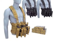 9MM-CHESTRIG-P9HST2400 Federal Premium HST 9mm 147 Grain JHP RTAC Chest Rig Combo
