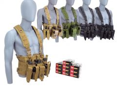 9MM-CHESTRIG-ZQI124GRBR500 ZQI 9mm 124 Grain FMJ RTAC Chest Rig