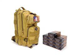 Blazer Brass 9mm 115 Gr FMJ RTAC Tan Assault Pack Combo