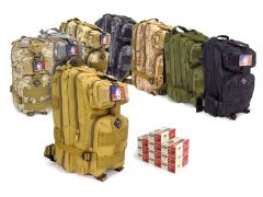 9MMRTABP-ZQI-9MM-124500 ZQI 9mm 124 Grain FMJ RTAC Assault Pack Combo