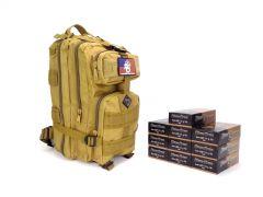 Blazer Brass 9mm 124 Gr FMJ RTAC Tan Assault Pack Combo