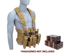 9MM-RTRIG-9A500 PMC 9mm 115 Grain FMJ RTAC Chest Rig Combo