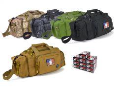 9MM-RTSRB-9X19WFMJ500 Wolf Polyformance 9mm 115 Grain FMJ RTAC Small Range Bag Combo