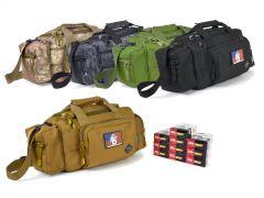 9MM-RTSRB-ZQI124GRBR500 ZQI 9mm 124 Grain FMJ RTAC Small Range Bag Combo
